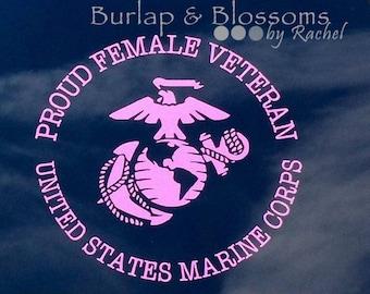 Proud Female Veteran Decal