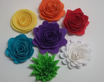 DIY 3D Paper Flowers 50 Pieces