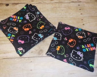 Cloth Wipes/Family Cloth /Flannel Cloth- Set of 5- Kitty