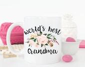 World's Best Grandma.Grandma.Grandparents coffee mug.Coffee mug.Mimi.Meme.Pregnancy announcement.Mother's day gift.mug.coffee
