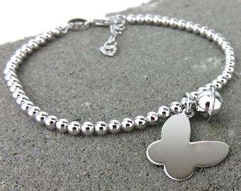 Butterly & Bell Bracelet