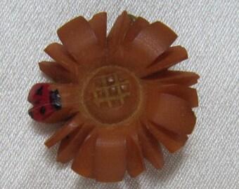 Sweet Vintage Bakelite Brooch