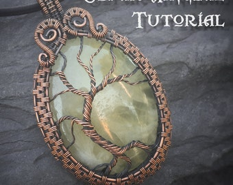 TUTORIAL - Yggdrasil Pendant - Wire Wrapping - Jewelry Pattern - Tree of Life Wire Wrapped Gemstone Lesson - Wire Wrap Stone