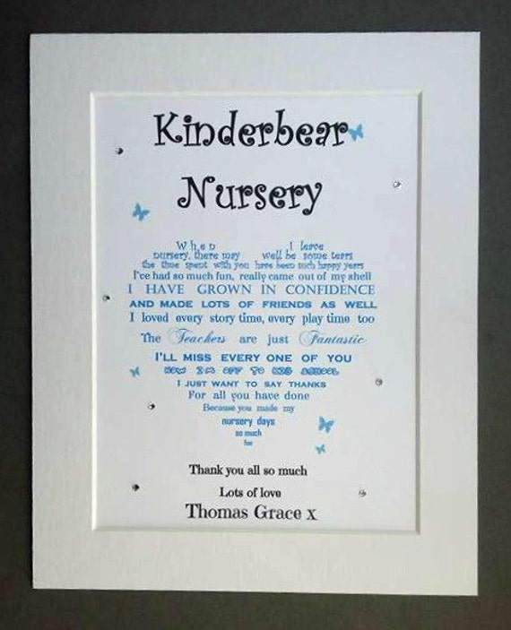 Nursery Leaving Gift Kindergarten Thank You Gift Leaving