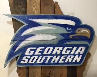 Georgia Southern Eagles Football Sign