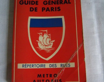 Map of Paris, general Guide, directory of the streets of Paris, publishing the Indispensable 1950-60
