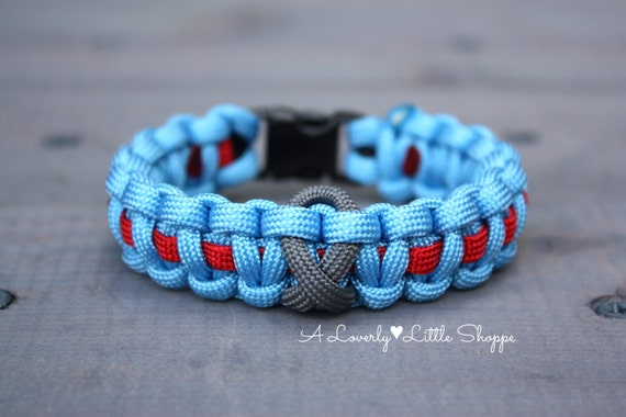 type 1 diabetes awareness ribbon paracord bracelet juvenile