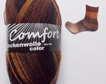 sock yarn 100g (6,-Euro/100g), various brown shades, 4ply (1016.04)