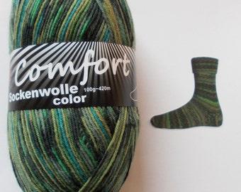 sock yarn, green-shaken, 4ply (1215b.02)