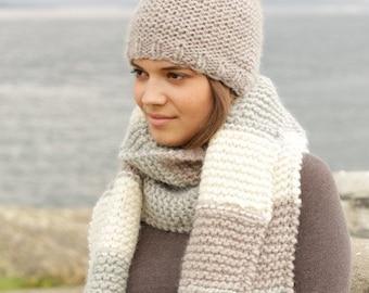 Pom knit hat, Pom knit beanie, Chunky knit hat, Chunky Knit Beanie, Womens Winter Hat, Knit Pom Pom Hat, Womens Knit Hats, Knit Hat Women