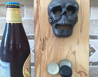 RIP Skull Wall Mounted Bottle Opener. Great for the man cave, lodge, cabin or home. Father's Day gift, groomsman or best man gift.