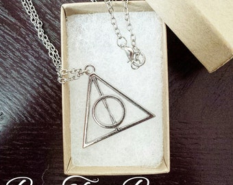 Deathly Hallow Necklace | Elder Wand | Resurrection Stone | Invisibility cloak | Gifts for her