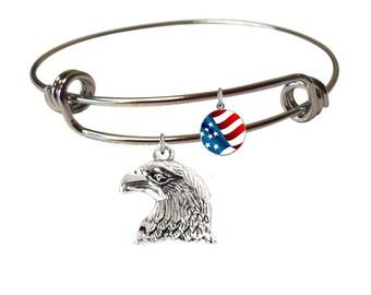 Patriotic Bracelet- Patriotic Jewelry- Fourth of July Jewelry- Fourth of July Bracelet- Red White and Blue Jewelry Bracelet- Flag Bracelet