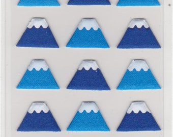 Mt Fuji Fabric Stickers - Mind Wave Stickers - Reference H2972