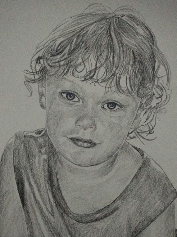 Custom Sketch graphite drawing from your photo. Drawn by an Award-Winning Artist! Free shipping.