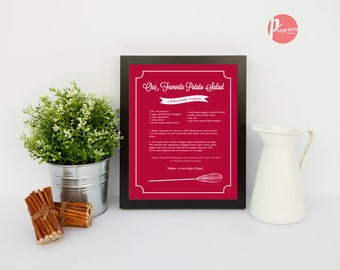 Custom Recipe Printable - Digital Download, Whisk