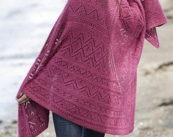 big woolen shawl, purple oversize wrap, cozy alpaca silk poncho, winter handknit shawl, choose your color, MADE TO ORDER