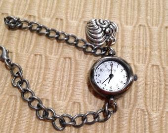 New Pewter Charm Bracelet Watch