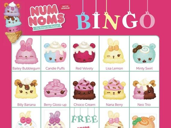NUM NOMS Bingo Cards 14 Unique With Extra LARGE