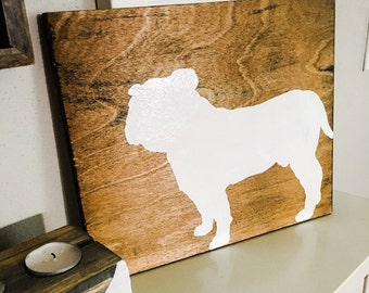 Reversible, Two-Side Bulldog Wall Decor