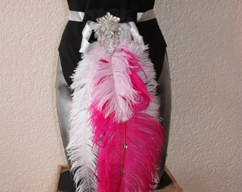 Pink Feather Bustle - Burlesque / Festival / Hen Do / Carnival