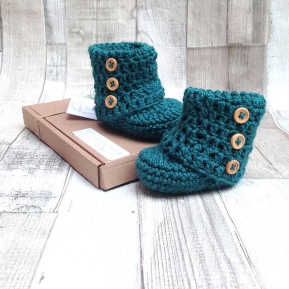 Unisex booties, Ugg boots, Baby shoes, Infant shoes,Baby shower,New born, Teal baby accessories,Crocheted booties,Crochet boots,Photo prop