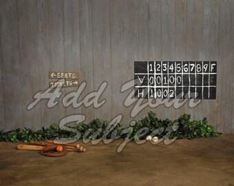 Digital Photo Backdrop Baseball Background