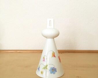 Mikasa Bell Bone China / Dinner Bell  'Just Flowers' Mikasa Design Pattern / Floral Design Bell/ Porcelain Bell Pastel Flowers/ Vintage Bell