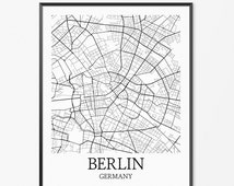 beliebte artikel f r berlin stadtplan auf etsy. Black Bedroom Furniture Sets. Home Design Ideas