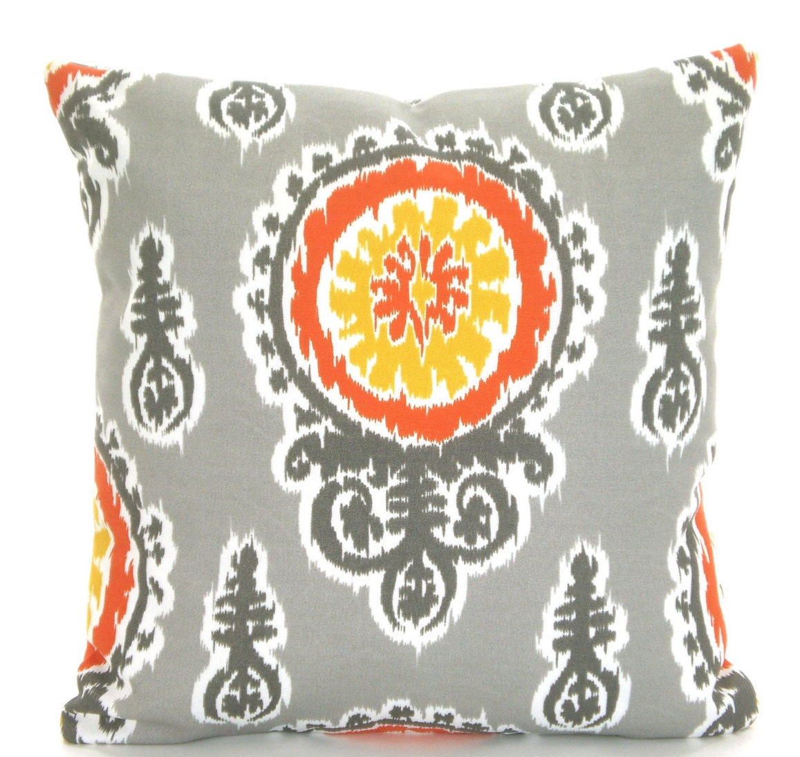 Throw Pillow Etsy : OUTDOOR Pillow Covers Throw Pillows Cushions Yellow Gray