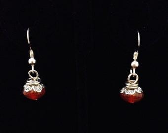 Brown-Orange Drop Earrings (EJ37)