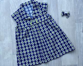 Hannah Dress and Bow Hairclip - size 2