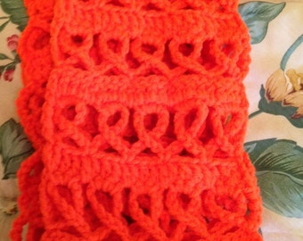 Leukemia , Kidney Disease and Cancer, and Muscular Sclerosis Awareness Scarf, Handmade