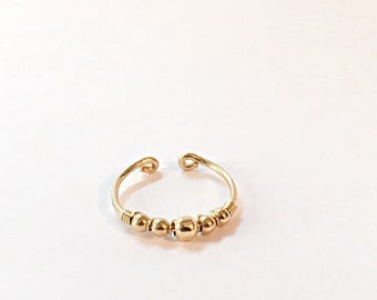 Gold Knuckle Ring also perfect as Toe Ring, adjustable toe ring, toe ring gold, toe ring silver, foot jewelry toe ring, knuckle ring gold