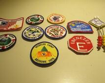 Vintage Boy Scout Badges set of 9 badges  years 1975-1978
