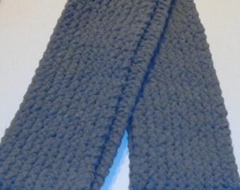 Hand Knit Gray Infinity Scarf