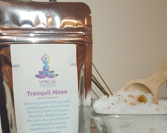 Organic Bath Soak//Healing+Relaxing-Tranquil Moon//Essential Oils// Yael's Moon