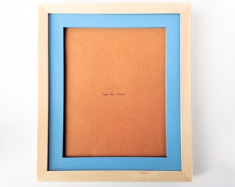 8 x 10 Picture Frame - Wood & Sky -  Stacked Frame