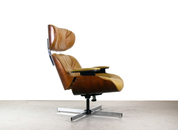 Eames style lounge chair by selig mid century modern - Selig eames chair ...