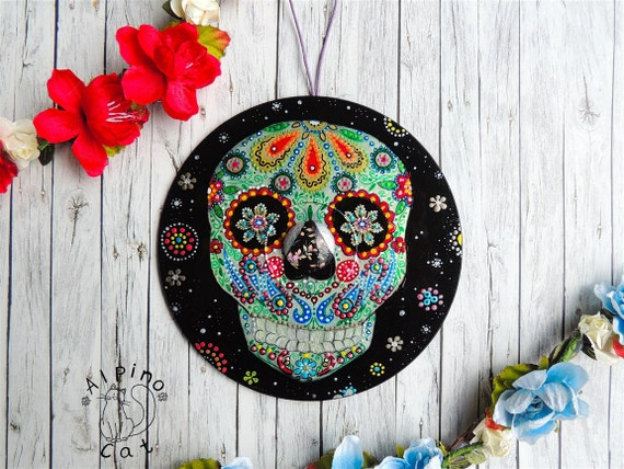 Day of the Dead Decoration sugar skull decor holidays decor