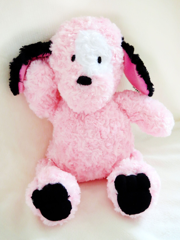 Pink Dog Toy : Pink puppy toys dog stuffed animal artist