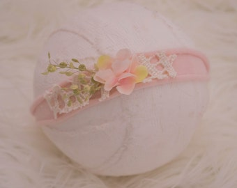 Newborn Photography Prop Headband {Blush Blooms}
