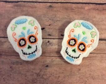Sugar Skull Bobby Pins