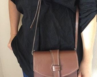 Leather crossbody bag / 100% handmade leather bag
