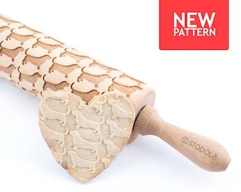 Basset Hound - geprägt, graviert Nudelholz für cookies
