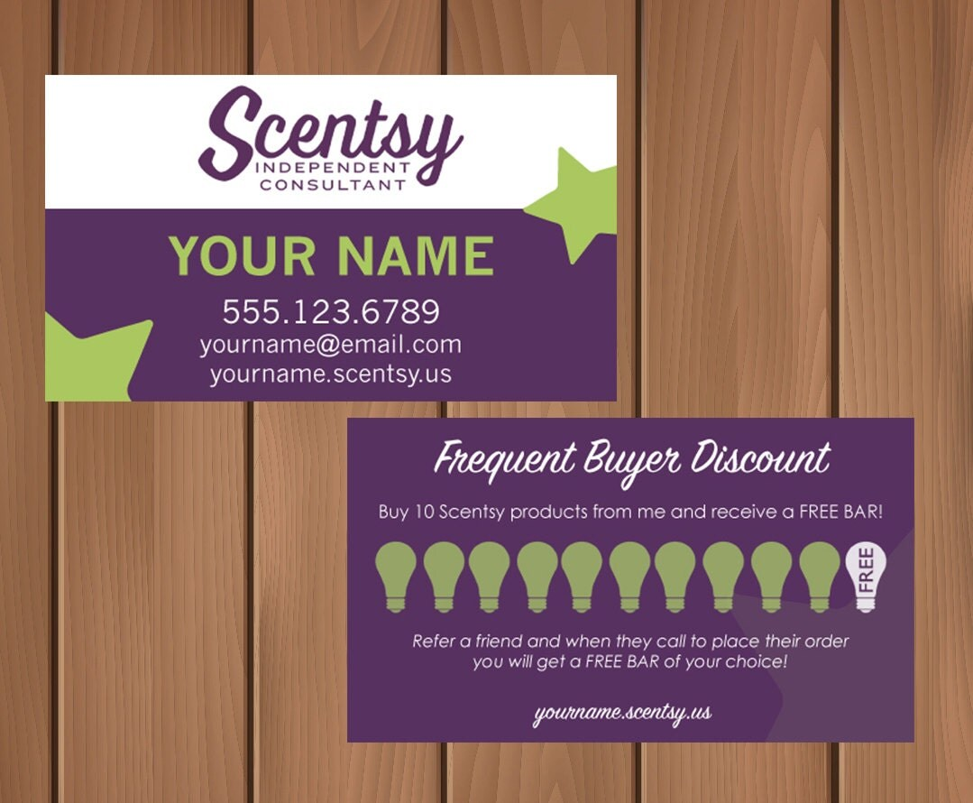 Scentsy Consultant Business Card w/ Frequent by MyCrazyDesigns: https://www.etsy.com/listing/243729911/scentsy-consultant-business...