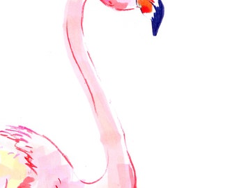 Flamingo Giclee Print, from original drawing