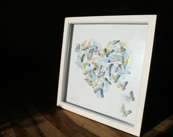 Map Butterfly 3D Heart Picture