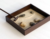 Zen Garden Tabletop Desk Accessories - Tabletop Decor Office Accessories Gifts for Coworker - Office Decoration Stress Relief Meditation