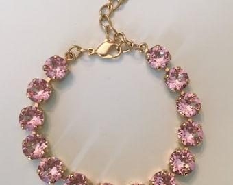 Pretty in Pink - Swarovski Crystal Bracelet